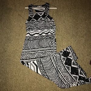 Derek Heart Black & White MaXi Dress